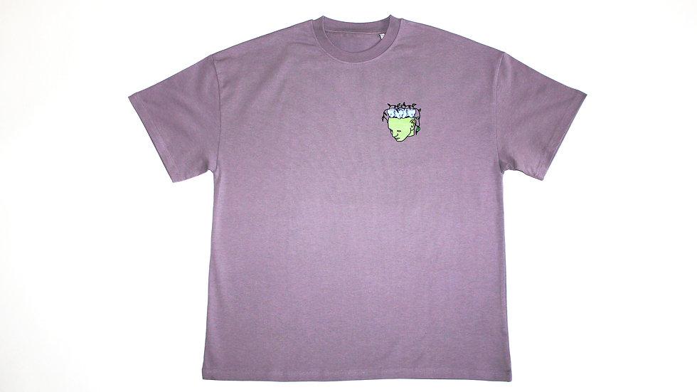 Let It Flow Oversized Purple Vintage T-Shirt