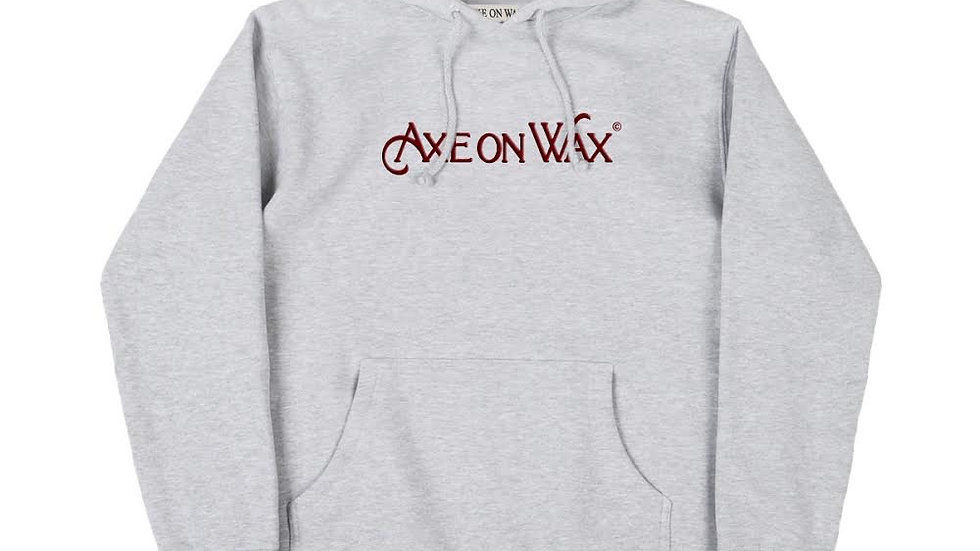 Classic Logo Embroidered Grey Hoodie