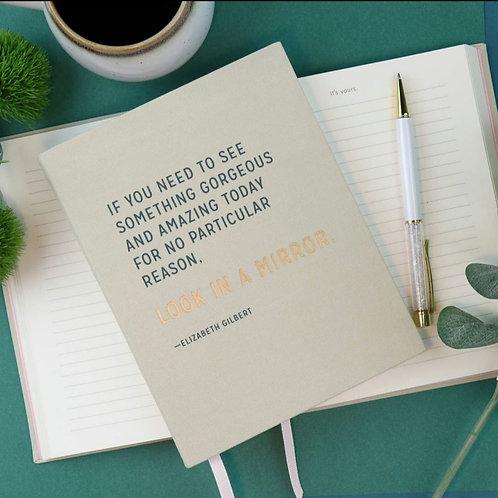 Elizabeth Gilbert Gorgeous and Amazing Journal