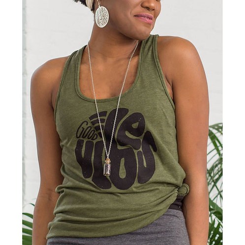 Good Vibes Only Recycled Razorback Tank