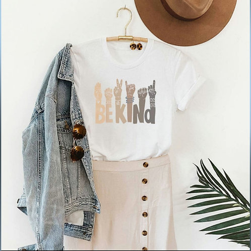 Be Kind Sign Language Graphic Tee