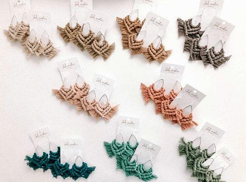 Mermaid Tail Macrame Earrings