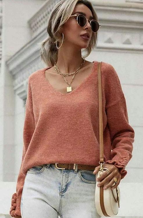 Lovely V Neck Sweater