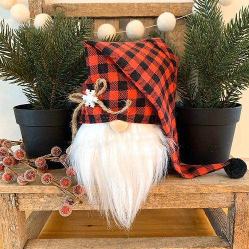 Snowflake Buffalo Plaid Gnome
