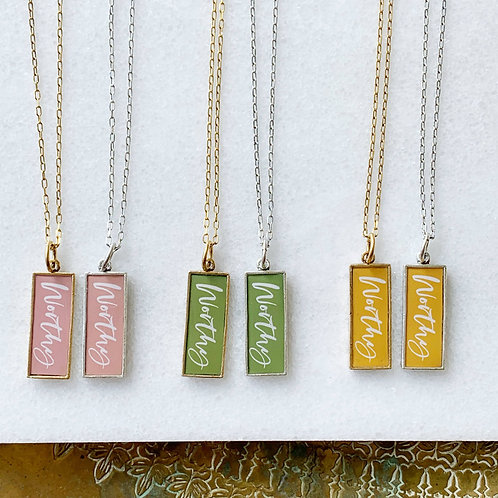 Worthy Tag Necklace