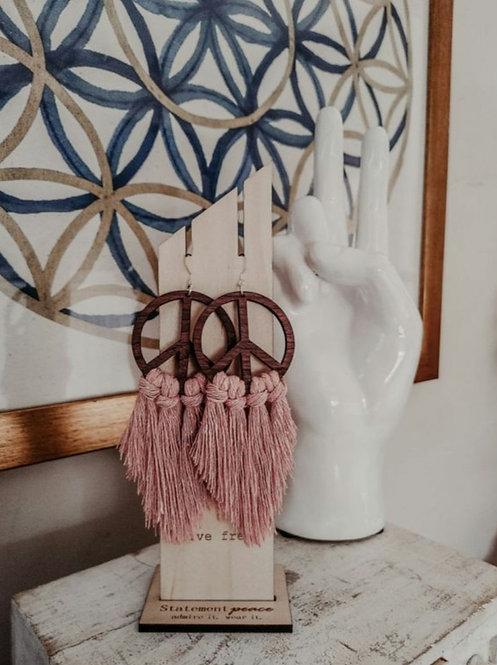 Peace Fringe Earrings