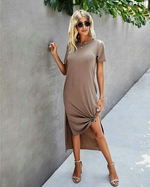 Taupe T-Shirt Dress