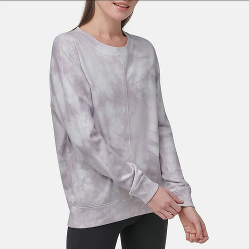 Weekend French Terry Long Sleeve Tie Dye Pullover