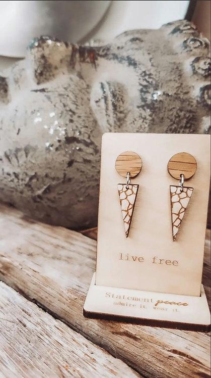 Pebble Stud Dangle Earrings