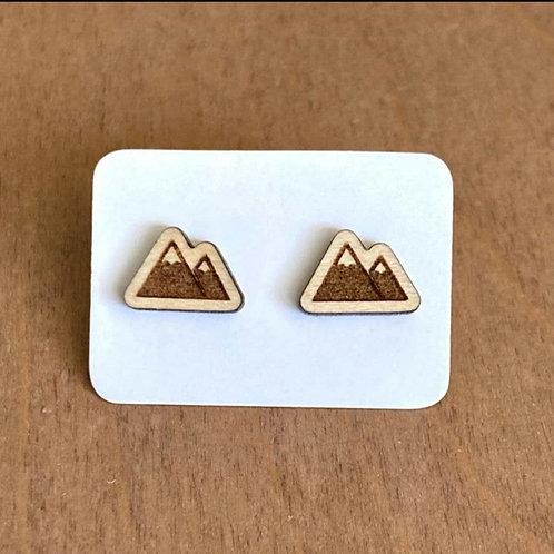 Two Mountain Peak Stud Earrings