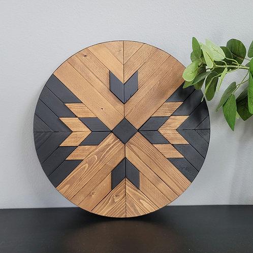 Hawkeye. Wood Mosaic