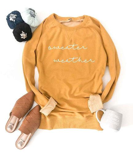 Sweater Weather French Terry Raglan Sweatshirt