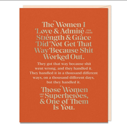 Elizabeth Gilbert The Woman I Love and Admire Card