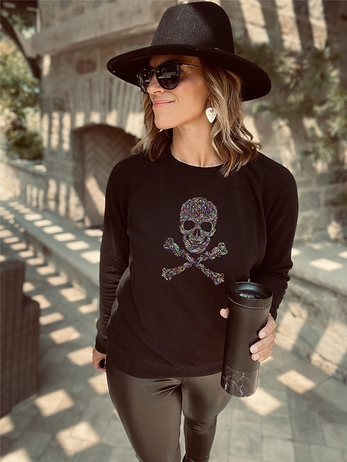 Skull French Terry Raglan Sweatshirt