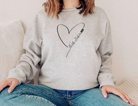 Heart North Dakota Sweatshirt