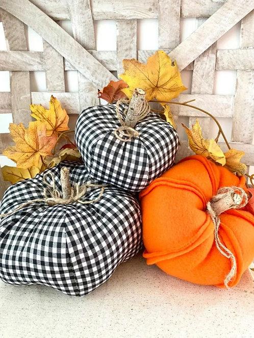 3 Piece Fabric Pumpkin Set