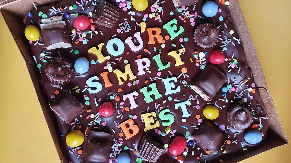 Personalised Brownie Slab
