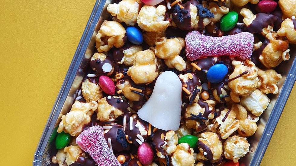 Spooky Choc Popcorn Slab