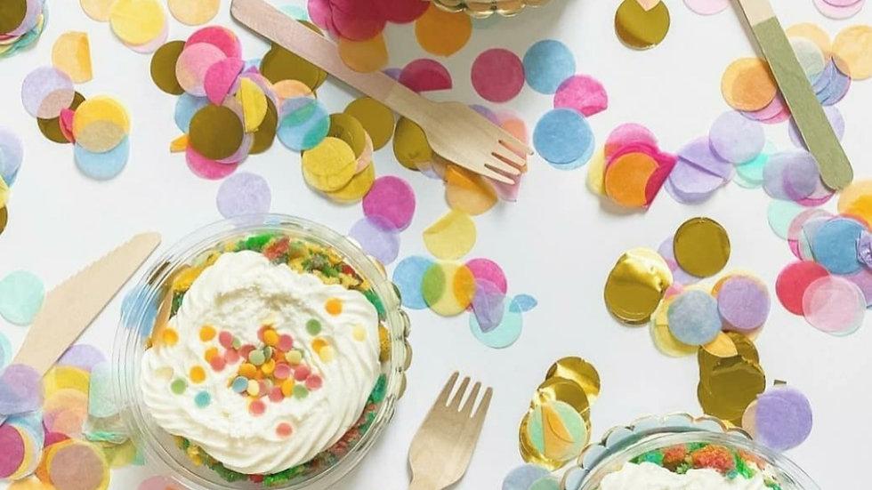 Rainbow Vanilla Cake Pot