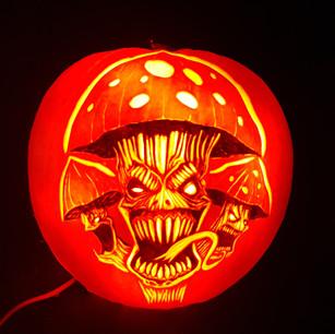 Mushroom Pumpkin carving