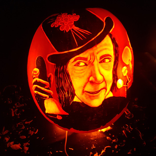 Child Catcher Pumpkin carving