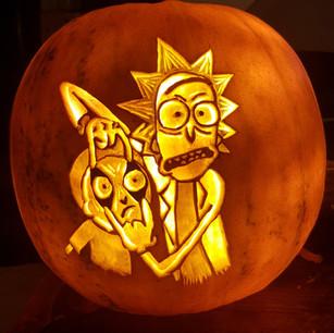 Rick & Morty jack-o-lantern Pumpkin.jpg