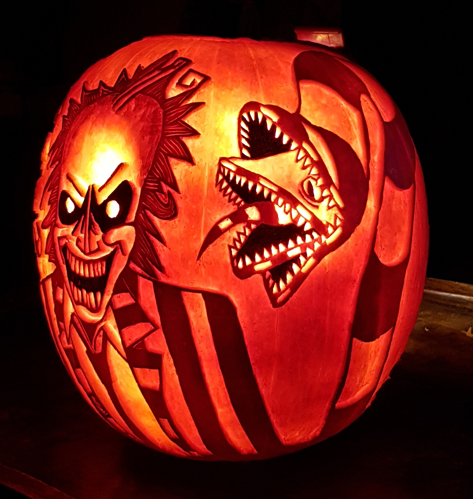 Beetlejuice Jack-o-lantern