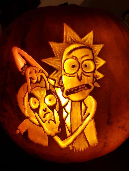 Rick and Morty bespoke Jack-o-lantern Pu