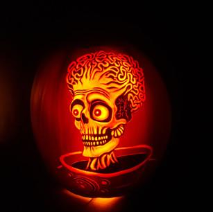 Mars attacks (Ack Ack Ack) Pumpkin carving