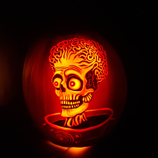 Mars attacks (Ack Ack Ack) Pumpkin carving