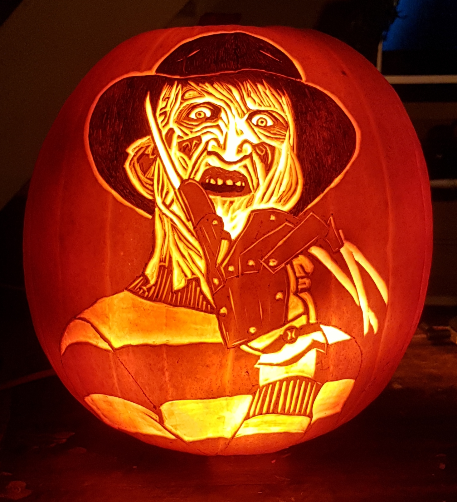Freddy Krueger Pumpkin carving