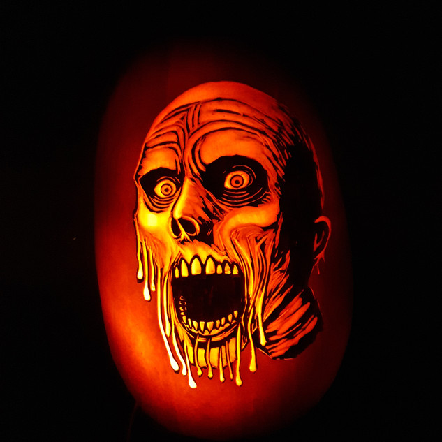 My face is melting Pumpkin carving