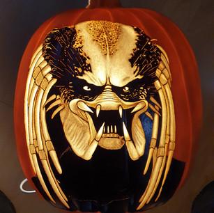Predator pumpkin carving