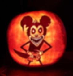Mickey mouse Jack-o'-Lantern Pumpkin