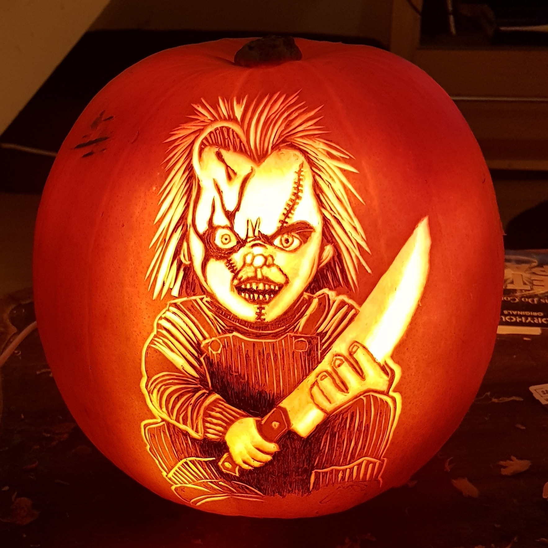 Chucky Pumpkin Carving