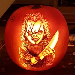 Chucky Pumpkin Carving