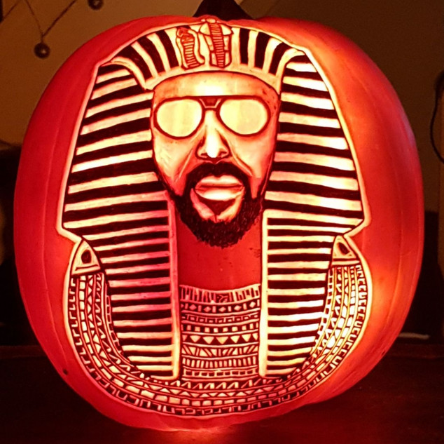 Egyptian lover Pumpkin carving