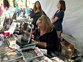 Ella signing at Word on the Street Toronto
