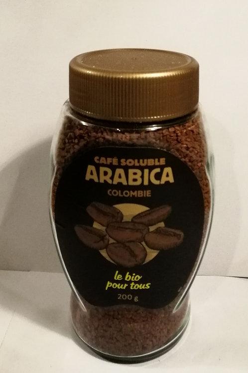 Cafe soluvel arabica colombia 200g LE BIO POUR TOUS
