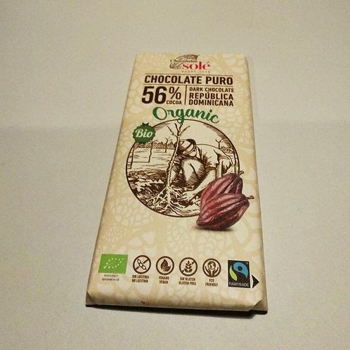 Chocolate negro 56% cacau 100g SOLÉ