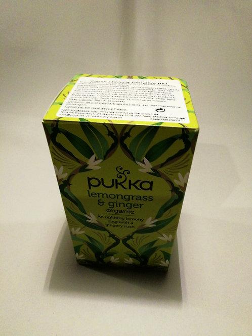 Infusão limão e gengibre PUKKA 36g