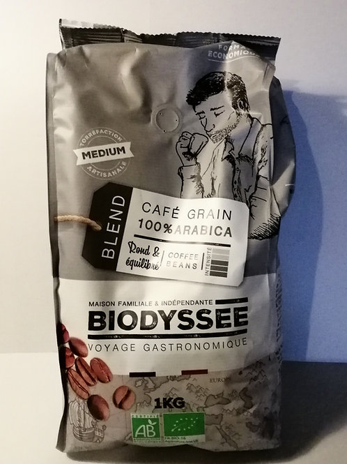 Cafe Arabica grão Bio Biodyssee 1Kg