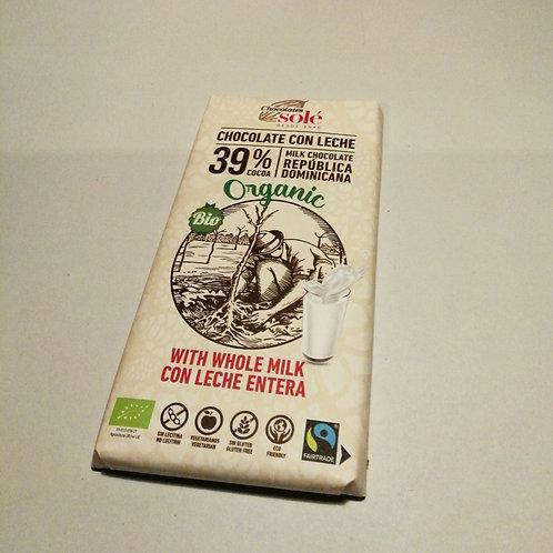 Chocolate de leite 39% cacau 100g SOLÉ