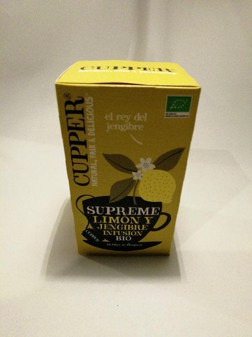 Infusão limão e gengibre CLIPPER 50g