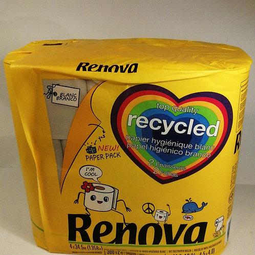 Papel Higienico recycled RENOVA 4 Udd
