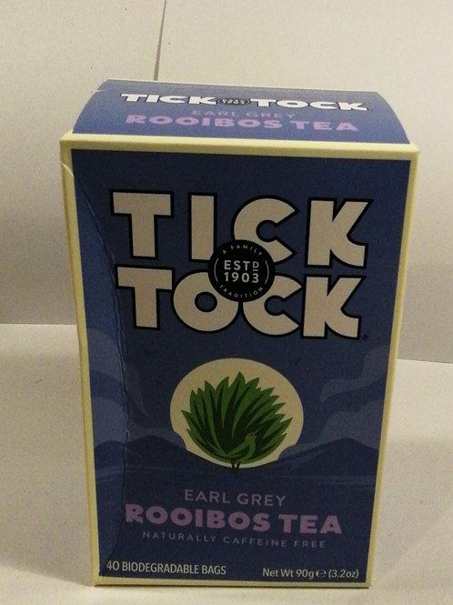 Chá earl grey Rooibos sem cafeina 90g Tick Tock
