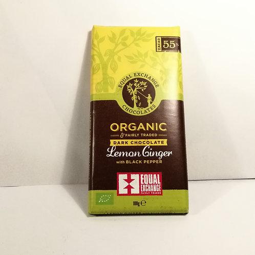 Equal Exchange Chocolate com Limão e Gengibre