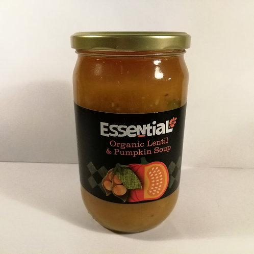 Essential Sopa de Abóbora e Lentilhas 680g