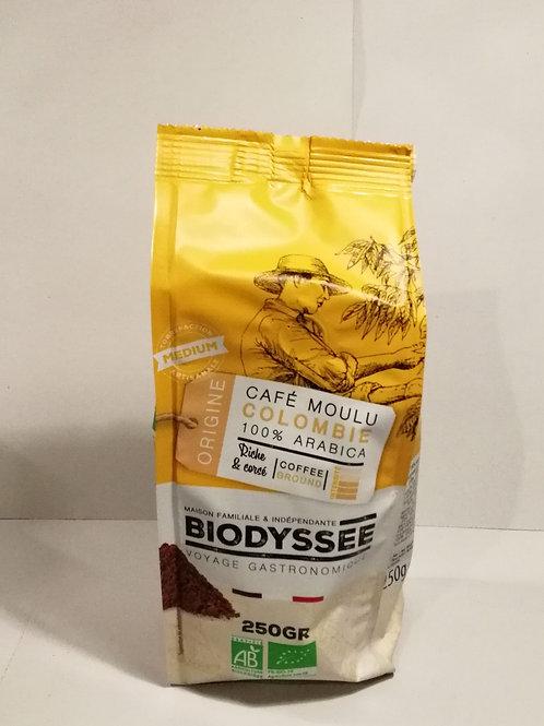Cafe moulu colombia Bio Biodyssee 250g
