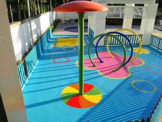 Diseño y pintura de Parque Acuático (ZONA SPLASH) en PH Acqua I, Costa del Este, Panamá